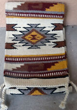 Southwestern Table Runner 38-10X80 Hand Woven Southwest Wool Geometric Design