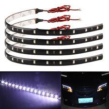 4 x 30cm 1W 3528 SMD 15 LED Bande Flexible Ruban Eclairage Lampe Blanc DC 12V