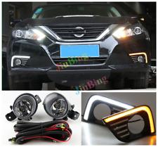 For Nissan Altima 2016-18 LED Driving Fog Light + DRL Daytime Running Lamp Kits