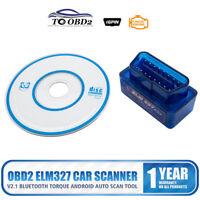 Torque ELM 327 Bluetooth V2.1 OBD2 OBDII Car Diagnose Auto Scanner Code Reader