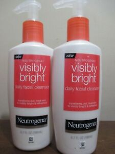 Lot of 2 Neutrogena Visibly Bright Daily Facial Cleanser 6.7 oz Discontinued