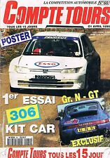 Compte Tours Magazine   N°60   Avril 1995 : 306 kit car