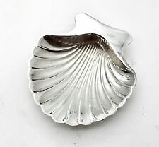 Tiffany & Co. Antique Sterling Silver Scalloped Clam Shell Dish Conch Feet