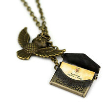Harry Potter Owl Post with Acceptance Letter Pendant Locket Necklace Vintage