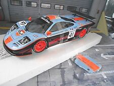 McLAREN BMW F1 GTR Langheck Le Mans 1997 #41 Gulf Raphanel Minichamps SP 1:18
