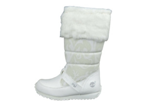 Timberland 25801 Free Style Toddlers Girls Boots Winter White Leather Snow
