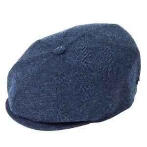 Bailey Hats Galvin Wool Bakerboy Cap - Cadet