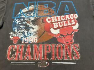 VTG 90s 1996 NBA Finals Chicago Bulls World Champions Champs T Shirt X-Large ??