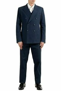 Dolce & Gabbana Men's Blue Double Breasted Three Piece Suit US 42 IT 52