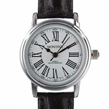Montine Ladies Black Leather Strap Cheap Women's Wrist Watch