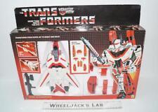Jetfire GRAY STRIPE COCKPIT MIB TM BOX 100% G 1985 Vintage G1 Transformers