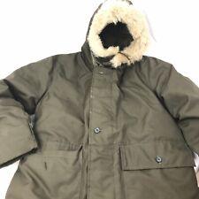 Vtg Herters Mens Medium Hudson Bay Virgin Goose Down Hunting Parka Jacket Fur