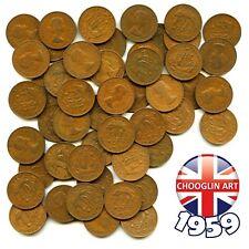 More details for (x50) 1959 british elizabeth ii halfpenny ½d coins