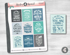 Adventure Quotes Planner Stickers - exploration hiking travel inspirational