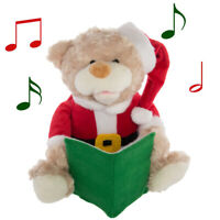 Talking Teddy Bear Toy Animated Plush Stuffed Animal Christmas Kid Holiday Décor