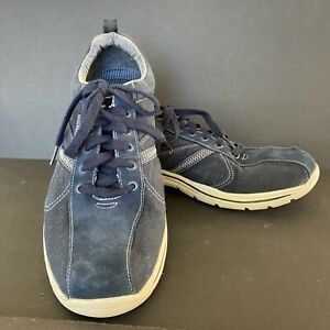 SKECHERS Mens Relaxed Fit Memory Foam Navy Blue Suede Sneaker Shoes Size 10.5 US