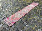 Vintage rug, Hallway rug, Runner rug, Turkish rug, Handmade, Wool   1,4 x 8,4 ft