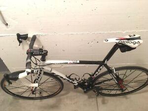 LOOK 595, strada corsa, bianco nero, full carbon, bici completa, taglia L/M