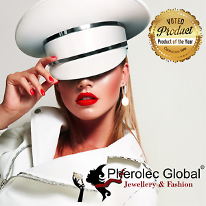 Pherolec Global Freshwater Pearl 8-9mm A+ Quality Earrings Woman Cubic Zirconia