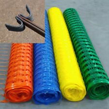 Heavy Duty  plastic mesh barrier safety sports  fence & metal steel fencing pins