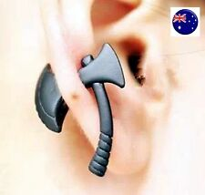 1 Piece Men Women Gothic Punk axe Hatchet Halloween Party Earring Ear Studs