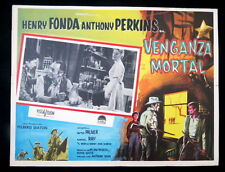 THE TIN STAR Henry Fonda Betty Palmer WESTERN LOBBY CARD 1957 NEAR MINT