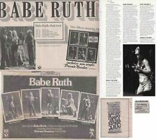 BABE RUTH- JENNY HAAN : CUTTINGS COLLECTION -adverts-