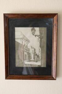 Vintage Framed Artwork by Jan D'esopo | Puerto Rican Art