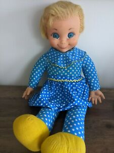 """Vintage 1967 Mattel 21"""" Mrs. Beasley Doll from Family Affair TV Show  No String"""