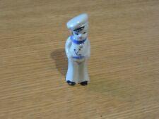 """Vintage Made in Japan Sailor Anchor Navy Porcelain Figurine ~ 3 1/2"""""""
