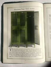 1920s H&H Steel Lockers Catalog Lots of Pictures w/ Price Guide
