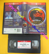 VHS film MORTAL KOMBAT Paul Anderson Christopher Lambert CECCHI GORI(F128)no dvd