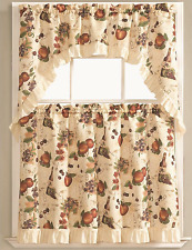 Fruit Orchard Complete 3 Pc. Kitchen Curtain Tier & Swag Set