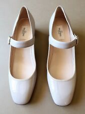 NEW Size 40.5 Valentino Taupe/Pale Pink Patent Leather Women's Shoes