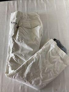 Burton Dry Ride Women's Sz XS Adjustable Waist White Snow Ski Pants TS1