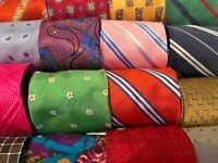 Lot 50 Pcs Silk Mens Designer Neckties Suit Job Wear Bulk Tie Lots GUC
