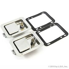 "2) Toolbox Lock Stainless Door Paddle Handle Trailer Rv Latch Key Big 5.5"" 4.25"""