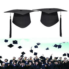 Black Mortar Board Adults Graduation Hat Cap Fancy Dress Accessory Student Hats