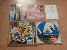 Mermelada de Sonic el Hedgehog 1 2 3 & Nudillos NTSC JAP JP importación Sega Saturn Raro Divertido