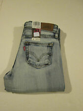 LEVI 518 SUPERLOW BLEACH BOOTCUT JEANS JR SIZE 1 M NWT