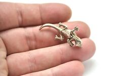 Lovely Vintage Antique Articulated Lizard Sterling Silver 925 Pin Brooch #753