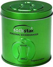 SOCKSTAR SOCKENKLAMMERN 20 Stück in 4 Farben in der Metallic Green Präsentdose