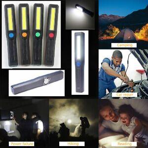 3pc COB LED Work Light Mechanic Work Shop Magnetic Inspection Lamp Hand Torch