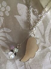 """💜breast Milk Angel Wing💜+Sterling Silver 24"""" Chain( Ser Del Time)in a Box."""
