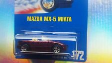MAZDA MX-5 MIATA~BLUE CARD~ #172~HOT WHEELS-RARE-ORIGINAL-VHTF-COLLECTIBLES