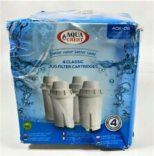AquaCrest Classic Pitcher Water Filter Replacement for Brita Classic (Pack of 4)