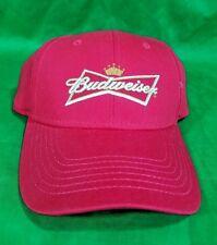 Budweiser Beer Hat Red NWOT Snapback Cap