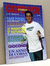 CORRERE [mensile di sport, n.148, gennaio 1996: fast food, cellulite, giocondi]