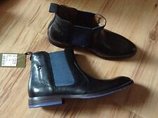 NEW 👤CLARKS👤Size 6.5 BLACK LEATHER ANKLE CHELSEA BOOTS (40EU) Slip On £89.99