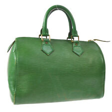 AUTHENTIC LOUIS VUITTON SPEEDY 25 HAND TOTE BAG GREEN EPI LEATHER M43014 V31092